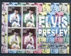 Sierra Leone 2005 Elvis Presley 70th Birthday MS MUH - Sierra Leone (1961-...)