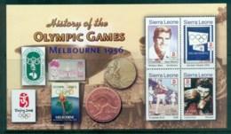 Sierra Leone 2006 History Of The Olympics (small Indentation) MS MUH - Sierra Leone (1961-...)