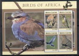 Sierra Leone 2009 Birds Of Africa MS MUH - Sierra Leone (1961-...)