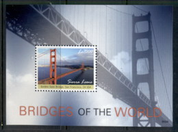Sierra Leone 2009 Bridges Of The World, Golden Gate MS MUH - Sierra Leone (1961-...)