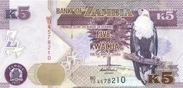 ZAMBIE 5 KWACHA 2012 (2013) P-50a NEUF [ZM153a] - Zambie