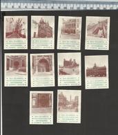 OLD VIEWS OF ANTWERP ANTWERPEN ZICHTEN HUIS ELIAERTS VAN KERCKHOVENSTRAAT-  Luciferetiketten - Matchbox Labels