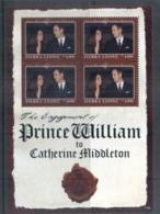 Sierra Leone 2011 Royal Engagement William & Kate #1106 Le4000 MS MUH - Sierra Leone (1961-...)