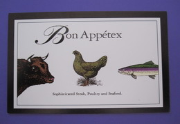 AUSTIN TEXAS BON APPETEX RESTAURANT USA POSTCARD PICTURE ADVERTISING DESIGN ORIGINAL PHOTO POST CARD PC STAMP - Other