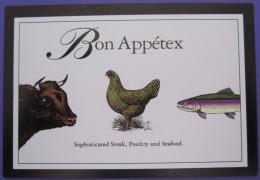 AUSTIN TEXAS BON APPETEX RESTAURANT USA POSTCARD PICTURE ADVERTISING DESIGN ORIGINAL PHOTO POST CARD PC STAMP - Advertising