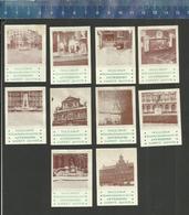 OLD VIEWS OF ANTWERP ANTWERPEN ZICHTEN DOLL SHOP HANDSCHOENMARKT -  Luciferetiketten - Matchbox Labels