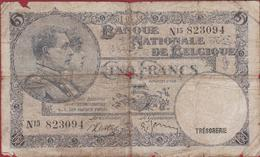 5 Frank 1938 Cinq Francs Koninkrijk Royaume De Belgie Belgique Belgium Oud Bankbiljet Banknote Billet - [ 2] 1831-... : Royaume De Belgique