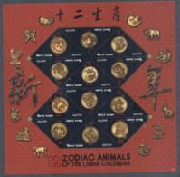 Sierra Leone 2011 Zodiac Animals Of The Lunar Calendar MS MUH - Sierra Leone (1961-...)