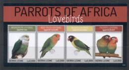 Sierra Leone 2013 Parrots Of Africa MS MUH - Sierra Leone (1961-...)