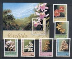 Somali Republic 1998 Flowers, Orchids + MS MUH - Somalia (1960-...)