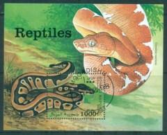 Somalia 1998 Reptiles, Snakes MS CTO - Somalia (1960-...)
