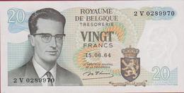 20 Frank Twintig Vingt Francs 1964 (zeer Goede Staat) Koninkrijk Royaume De Belgie Belgique Belgium Bankbiljet Banknote - [ 2] 1831-... : Belgian Kingdom