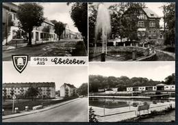 B7183 - Ebeleben Gruß Aus - Freibad Müntzer Siedlung Markt - Konsum Fotocolor Magdeburg - Sondershausen