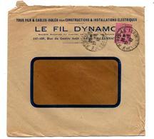 Lettre Cachet Paris Sur Semeuse Entete Fil Dynamic - Postmark Collection (Covers)