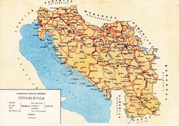YOUGOSLAVIE,jugoslavija,PLAN,CARTE GEOGRAPHIQUE,EDITION REKLAMSERVIS DE BEOGRAD - Serbie