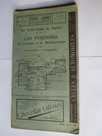 Livret Guides Du Touriste THIOLIER De 1922 - LES PYRENEES De L'Ariège à La Méditerranée - 100 Pages - 19 Photos - Dépliants Touristiques
