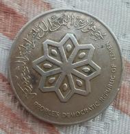 Yemen Democratic Rep. - 50 Fils (1 Dirham) - KM 6 - 1976 - AUNC - Very Rare - Gomaa - Yémen