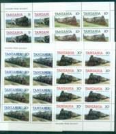 Tanzania 1985 Trains (4)Sheetlets MUH - Swaziland (1968-...)