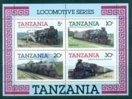 Tanzania 1985 Trains MS MUH - Swaziland (1968-...)