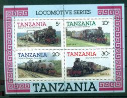 Tanzania 1985 Trains MS MUH Lot21358 - Swaziland (1968-...)