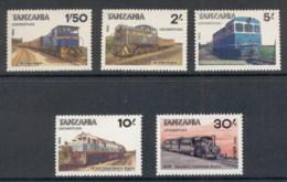 Tanzania 1985 Trains MUH - Swaziland (1968-...)