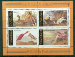 Tanzania 1986 Audubon Birds MS MLH Lot84776 - Swaziland (1968-...)