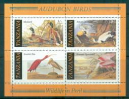 Tanzania 1986 Audubon Birds MS MUH - Swaziland (1968-...)