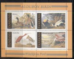 Tanzania 1986 Audubon Birds MUH - Swaziland (1968-...)