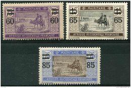 Mauritanie (1922) N 36 à 38 * (charniere) - Mauritanie (1906-1944)