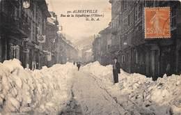 73-ALBERTVILLE- RUE DE LA REPUBLIQUE - L'HIVER - Albertville