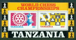 Tanzania 1986 Chess MS MUH Lot17894 - Swaziland (1968-...)