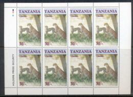 Tanzania 1986 Endangered Wildlife, Cheetah 30/- Sheetlet MUH - Swaziland (1968-...)