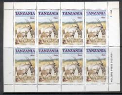 Tanzania 1986 Endangered Wildlife, Oryx 5/- Sheetlet MUH - Swaziland (1968-...)