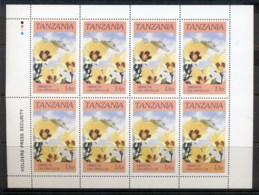 Tanzania 1986 Flowers 1/5-sh Sheetlet MUH - Swaziland (1968-...)