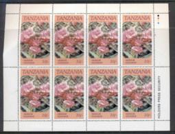 Tanzania 1986 Flowers 10/- Sheetlet MUH - Swaziland (1968-...)
