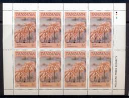 Tanzania 1986 Flowers 5/- Sheetlet MUH - Swaziland (1968-...)