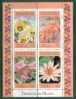 Tanzania 1986 Flowers MLH MS Lot84780 - Swaziland (1968-...)