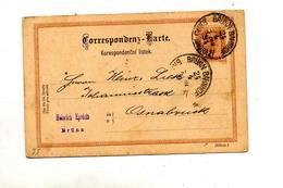 Carte Postale 2 Empereur Cachet Brünn - Postal Stationery