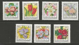 Lebanon - 1973 Flowers Part Set  MNH **   Mi 1155up  Sc C658up - Lebanon