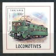 Tanzania 1991 Trains MS MUH - Swaziland (1968-...)
