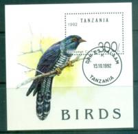 Tanzania 1992 Birds MS CTO Lot84794 - Swaziland (1968-...)