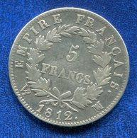 PIECE 5 FRANCS 1812 MA NAPOLEON EMPEREUR - France