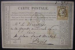 """1875 Nancy Carte Précurseur Avec Cachet """" Revue Médicale De L'est """" - Postmark Collection (Covers)"""
