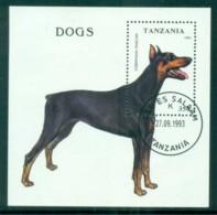 Tanzania 1993 Dogs MS CTO Lot84811 - Swaziland (1968-...)