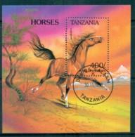 Tanzania 1993 Horses MS CTO Lot84808 - Swaziland (1968-...)