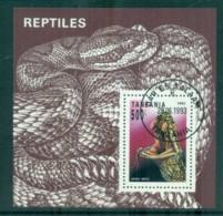 Tanzania 1993 Reptiles MS CTO Lot84812 - Swaziland (1968-...)