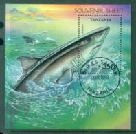 Tanzania 1993 Sharks MS CTO Lot84813 - Swaziland (1968-...)