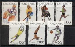 Tanzania 1993 Sports MUH - Swaziland (1968-...)