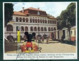 Tanzania 1994 Disney, Disney Characters On Tour, Kigoma Station MS FU Lot80104 - Swaziland (1968-...)