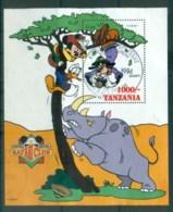 Tanzania 1994 Disney, Safari Club, Goofy In Tree MS FU Lot80097 - Swaziland (1968-...)